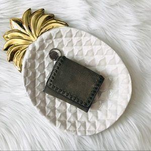 Rebecca Minkoff Olive Suede Mini Vanity Wallet